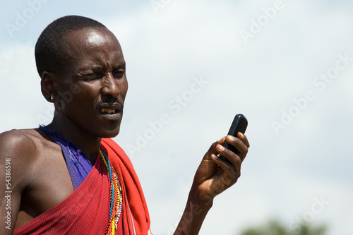 Masai with Cellphone