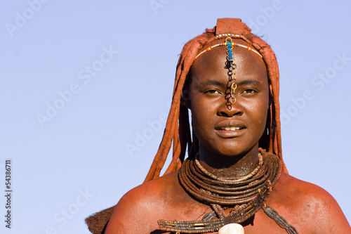 Native Himba woman portrait