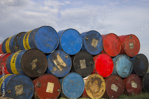 Old barrels for Floating Houses