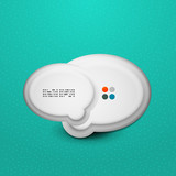 3d white speech bubble modern template