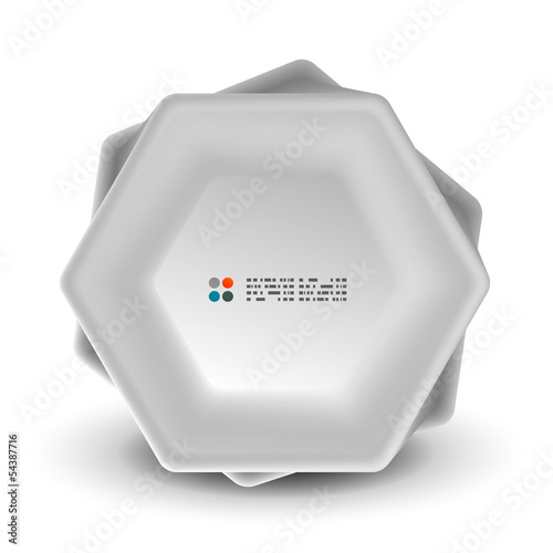 Abstract 3d geometrical shape template