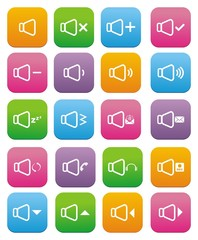 sound icons- flat style icons