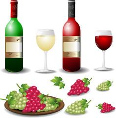 Rotwein Weißwein Set