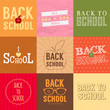 Set of back to school badges. Vector illustration