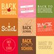 Set of back to school badges. Vector illustration