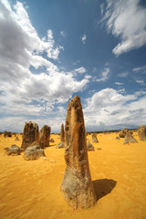 Scenic view of Pinnacles Desert in West Australia
