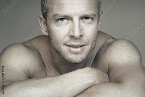 Handsome man portrait close