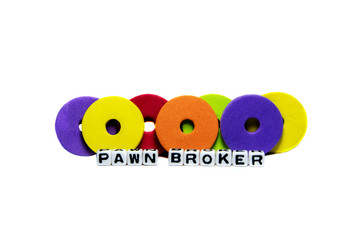 Pawn broker text and rings
