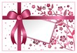 Wish card with floral ornaments and ribbon