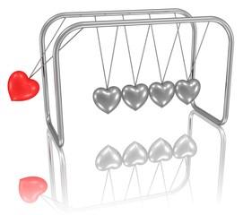 Mobile mit Herzen - der Anstoß zur Liebe, Partnerschaft