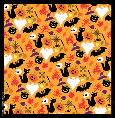 Seamless pattern for Halloween.