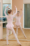 Little girl at ballet training