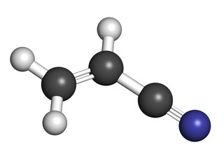 Acrylonitrile molecule, polyacrylonitrile (PAN) and ABS plastic