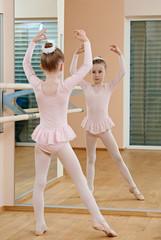 Little girl at ballet training