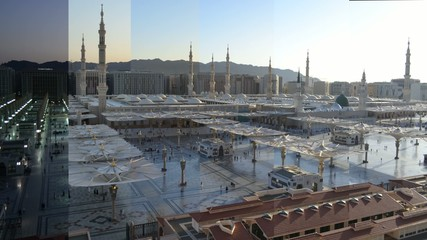 Nabawi Mosque time lapse from dawn to morning