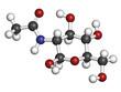 N-Acetylglucosamine (NAG) food supplement molecule.