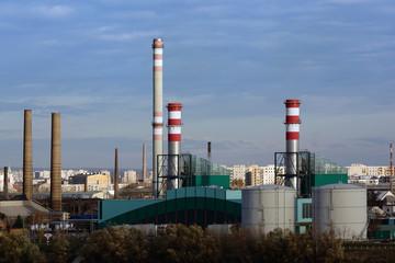 Csepel Power Station in Budapest, Hungary