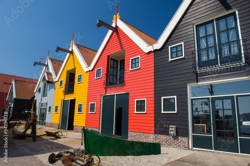 Colorful warehouses