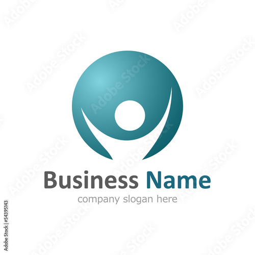 Business Logo with Human Symbol