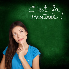 C'est la Rentree Scolaire - French back to school
