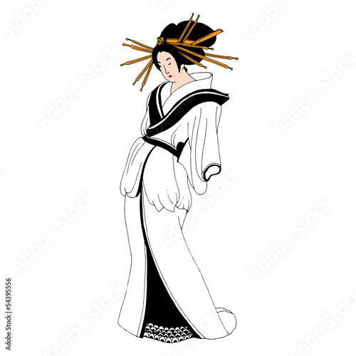 Japanese woman in traditional robe