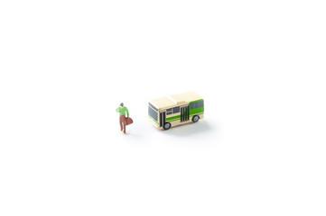 男性とバス