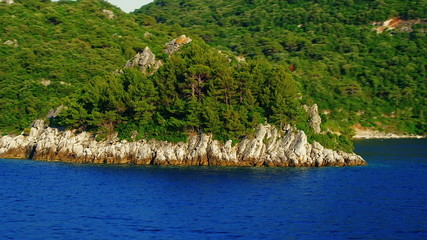 Departure from Island Mljet
