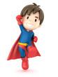 3d render of a superhero boy