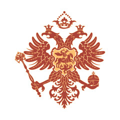 Russian coat of arms (double-headed eagle)