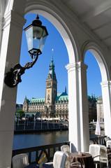 The city hall of Hamburg
