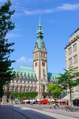 The city hall of Hamburg