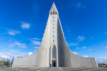 Front view Hallgrímskirkja, Reykjavik, Iceland