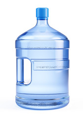 Large bottle of pure water isolated on a white background