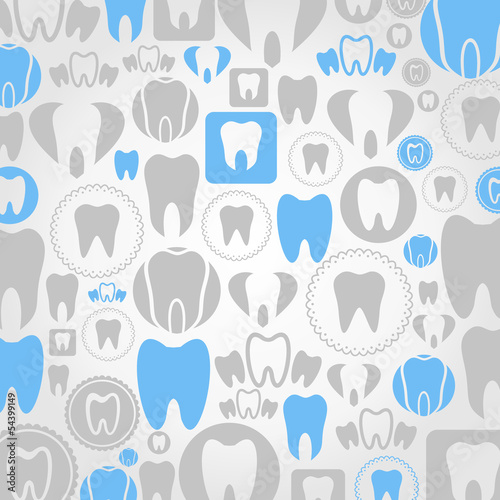 Tooth a background