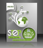 Vector Global Warming flyer, magazine cover & poster template