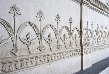 floral ornament in stone relief