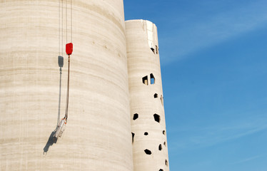 Paris silo en béton en constrction