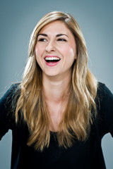 Young Happy Woman Laughing