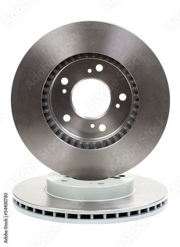 Two new brake discs for the car