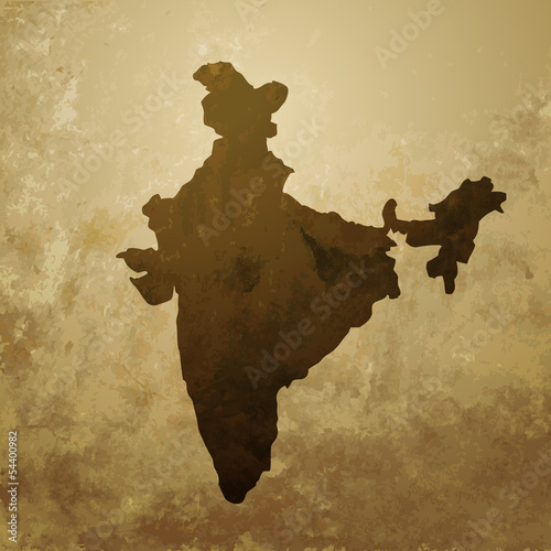 vector indian map