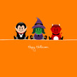 Halloween Vampire, Witch & Devil Orange