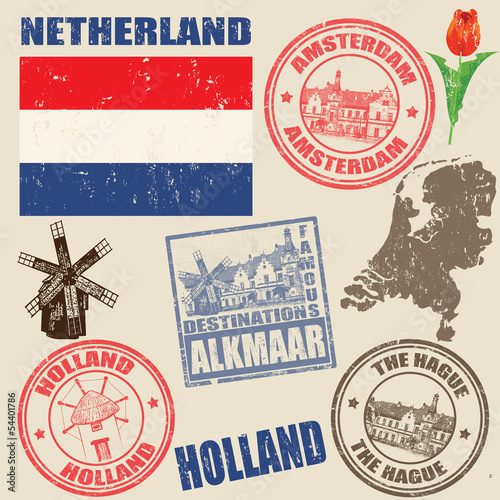 Set of Netherland stamps