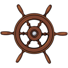 vector ship's wheel