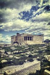 Caryatids in Erechtheum from Athenian Acropolis,Greece