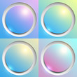 Abstract background with colorful plastic buttons