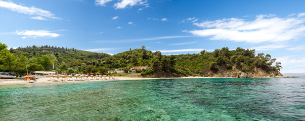 Bahia beach panorama, Sithonia, Greece