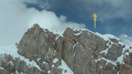 Zugspitze, Gipfelkreuz, Zeitraffer