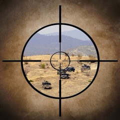 Military target on vehicles