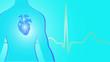 Medizin Herz EKG Hintergrund