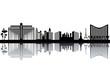 Las Vegas skyline - black and white vector illustration - 54406585